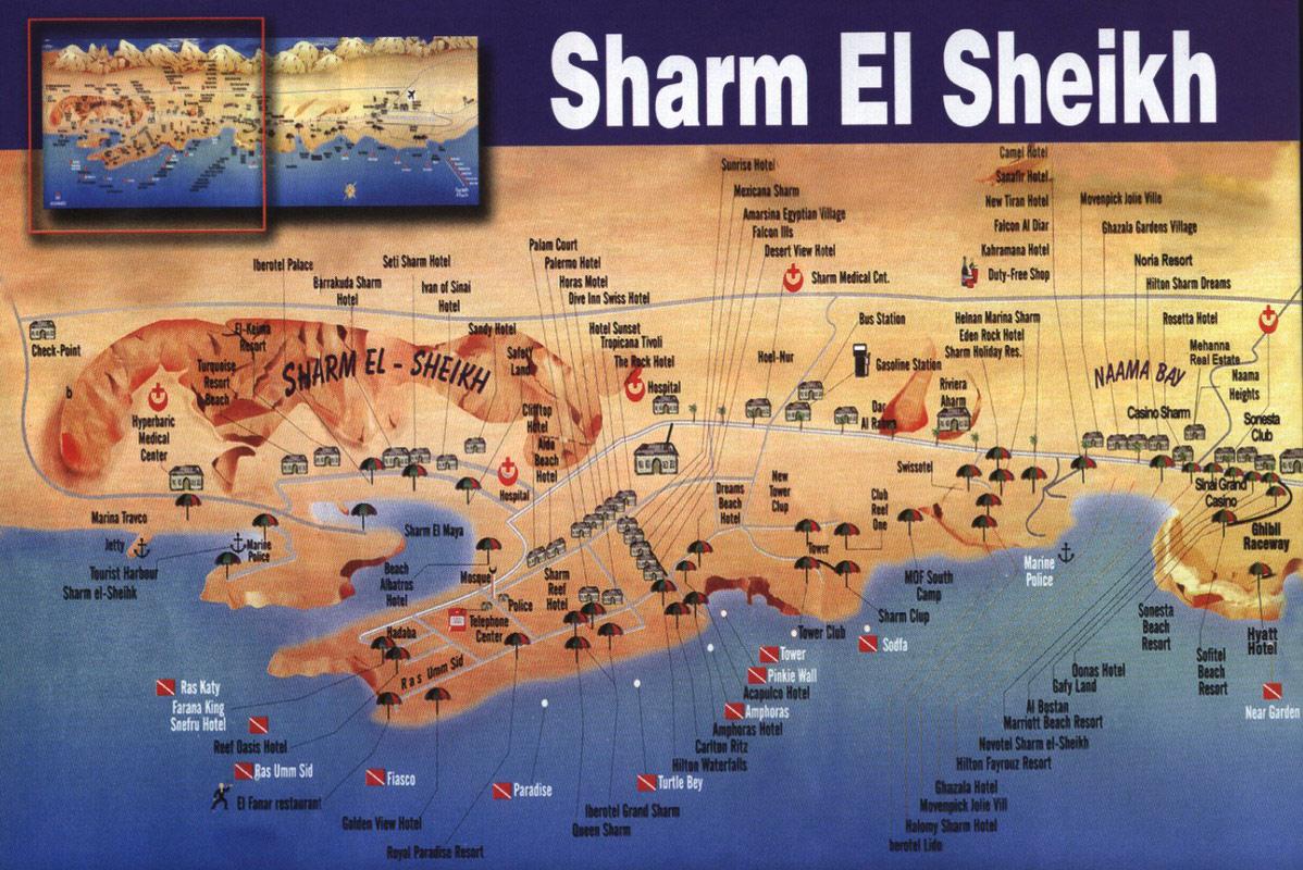 Детальная карта шарм ель шейха с